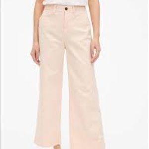 NEW Gap High Rose Wise Leg Crop Pale Pink 00